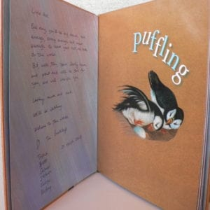 Inscribing children's books as gifts - Picture of Puffling