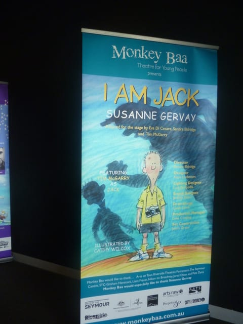 'I am Jack' poster for the stage production by Monkey Baa Theatre