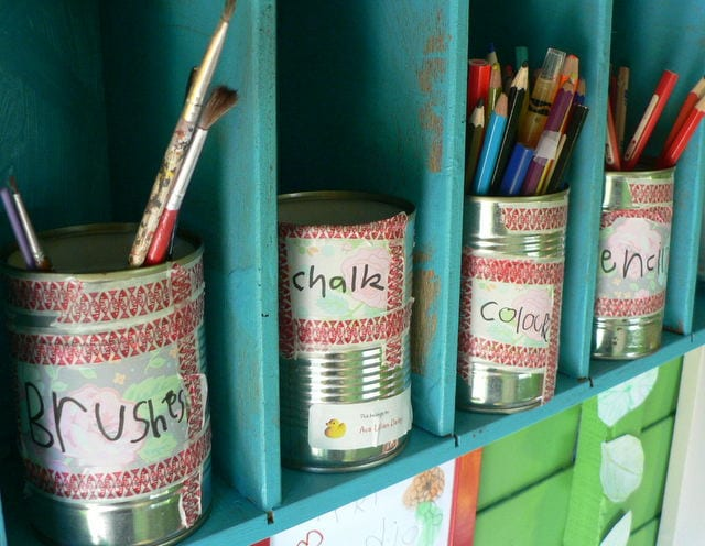 Tins of Art Supplies