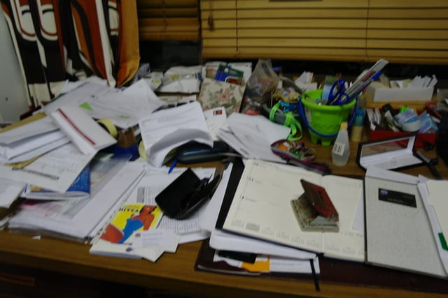 Susie's messy desk