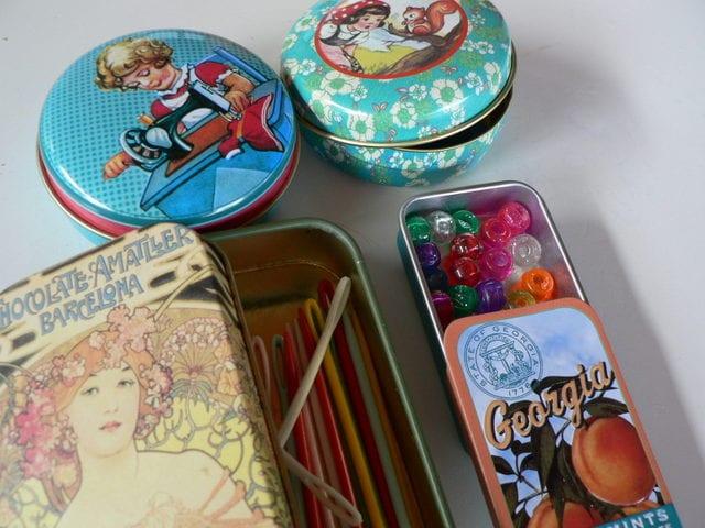 sewing tins
