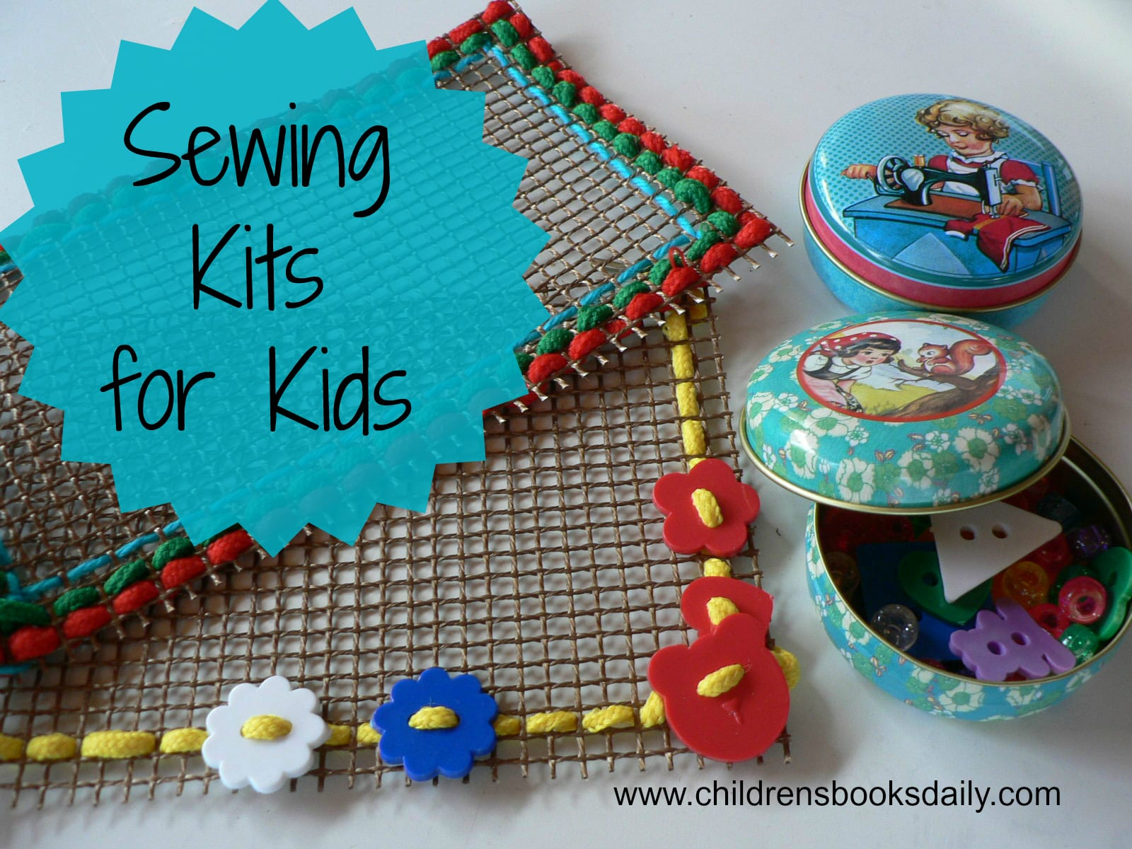 sewing kits and sewing books for children