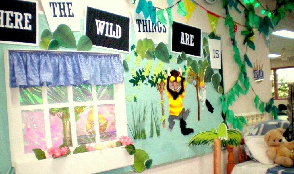 'Where the Wild Things Are is 50'. Max's bedroom, boat, and Wild Things