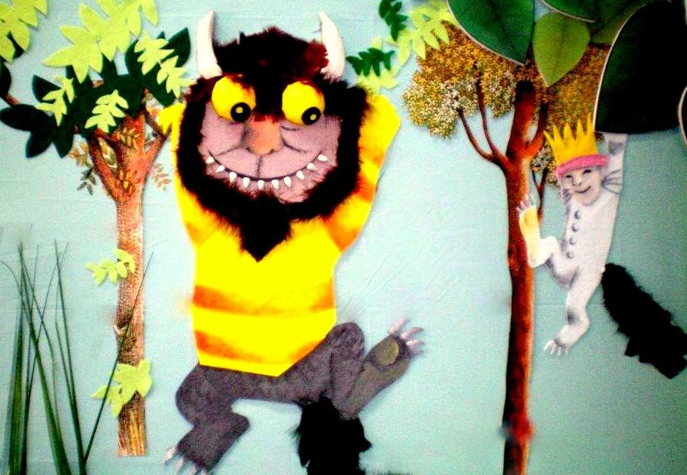 Felt, fur and plasticine Wild Thing and Max