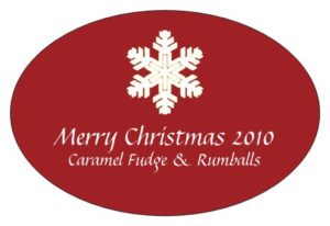 Small stickers for foodie gifts! Just done 'Salted Caramel' ones for 2013!