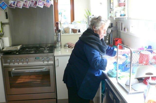 Nan Cleaning Up