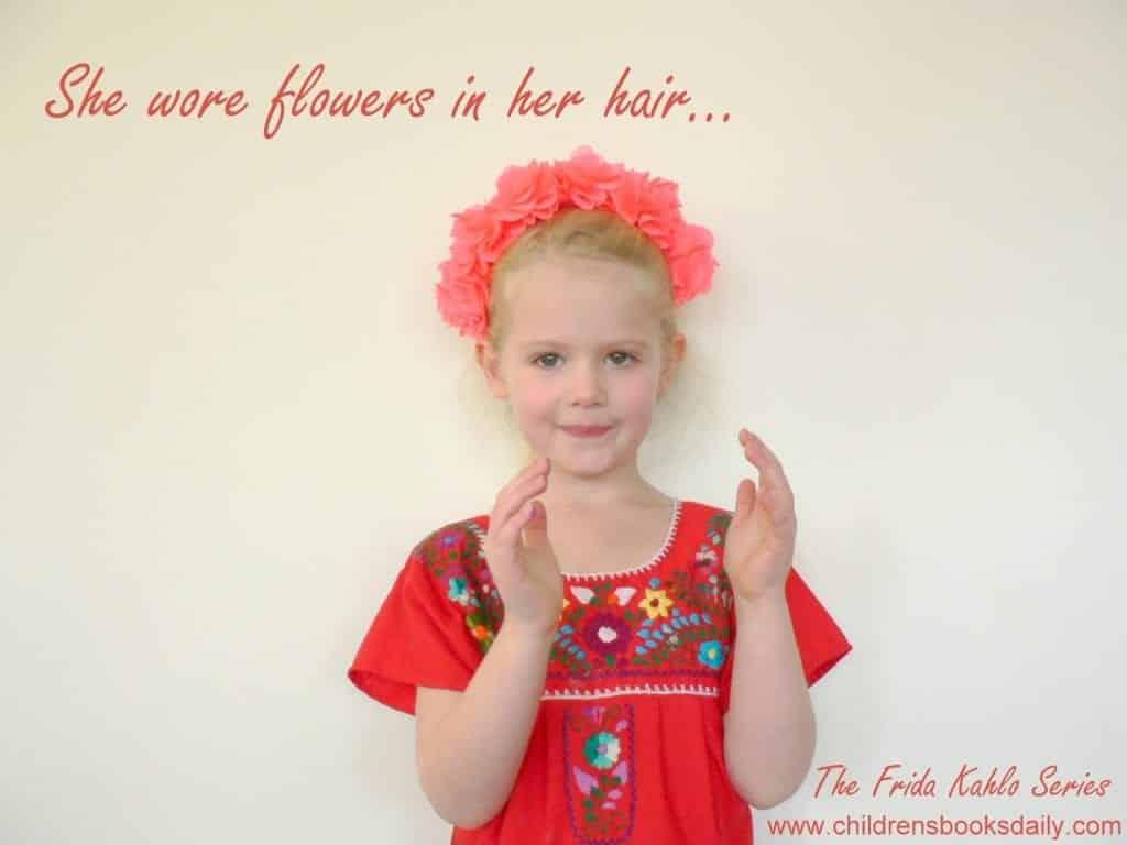 Frida Kahlo Flowers in her Hair
