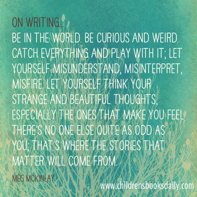 Meg McKinlay on Writing