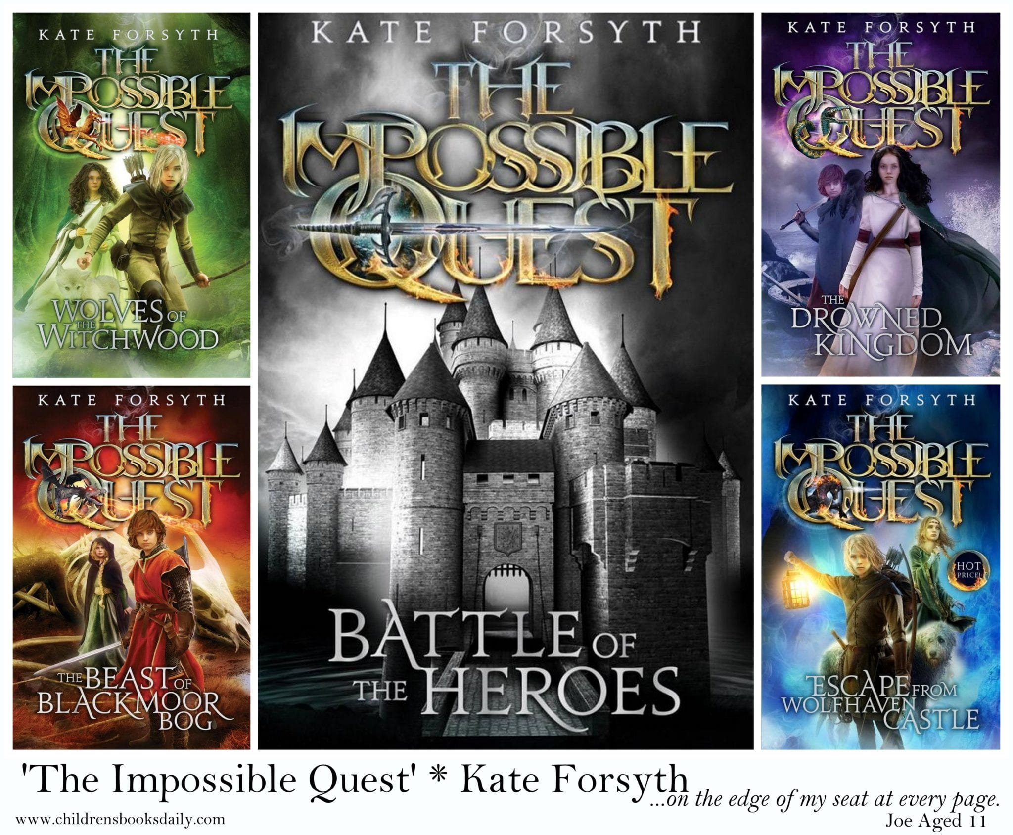 Book Cover Craft Quest : Review of the impossible quest series children s books