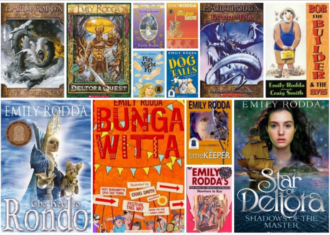 Book Cover Collage Quest ~ Our star emily rodda and star of deltora children s books