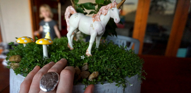 unicorn garden smelting moment