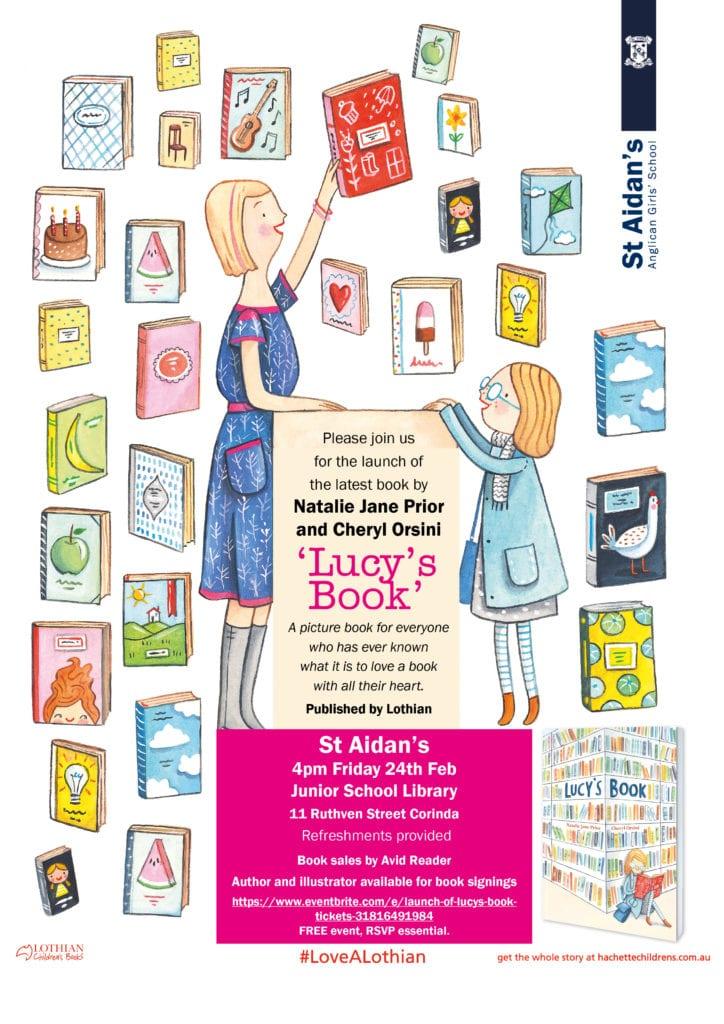 St Aidan's Launch Lucy's Book Invitation 2017