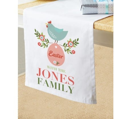 Easter gifts part two for the grownups childrens books daily grandparents who host easter are getting these super cute personalised table runners negle Choice Image
