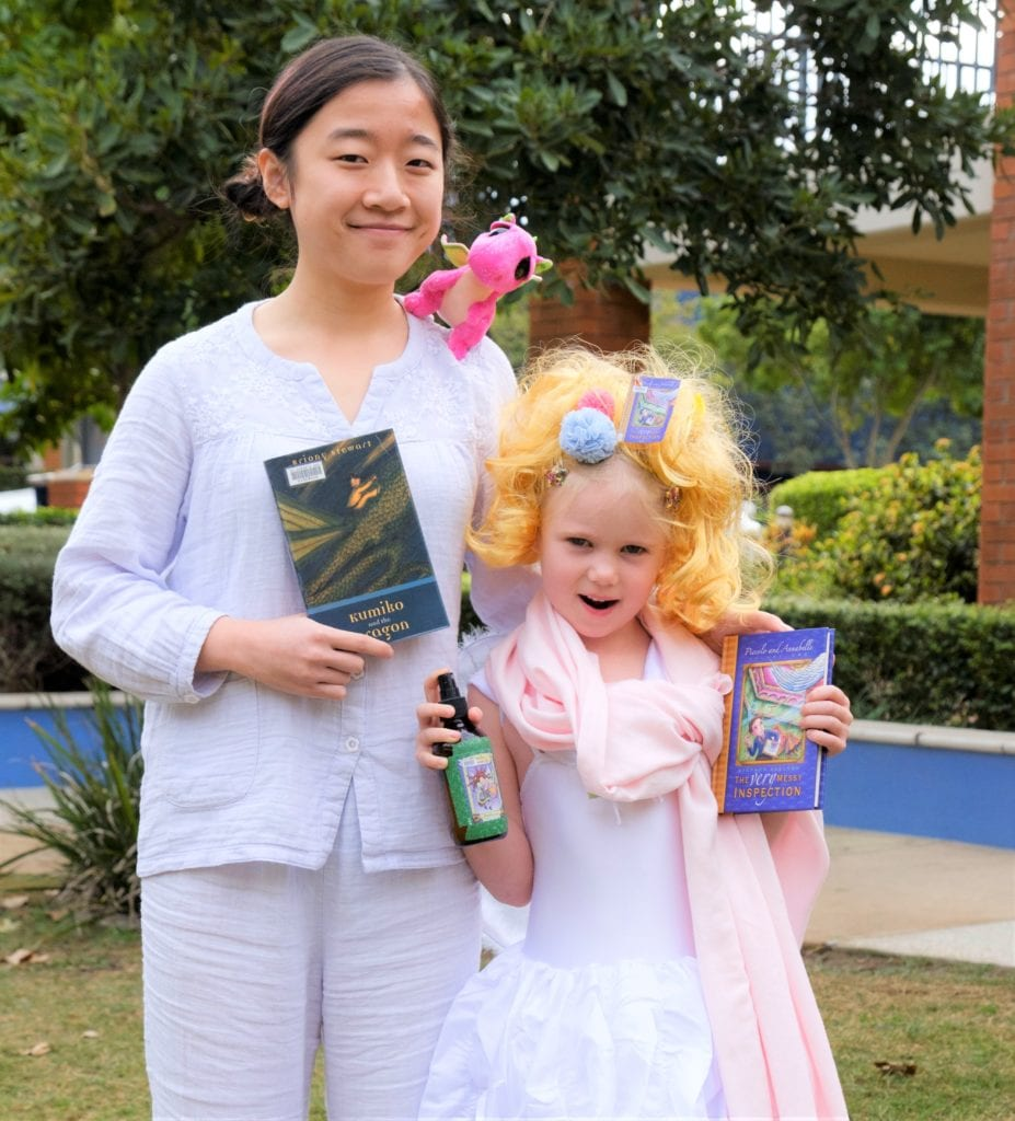 Top 30 book week costumes for find your treasure childrens last year she was annabelle from piccolo and annabelle and she is pictured below with our lovely rachel who was kumiko from kumiko and the dragon fandeluxe Gallery